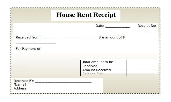 US Real Estate Rent Receipt Template Word - Project management ...