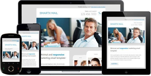 Smartx Mail - Responsive Email Template by Gifky | ThemeForest