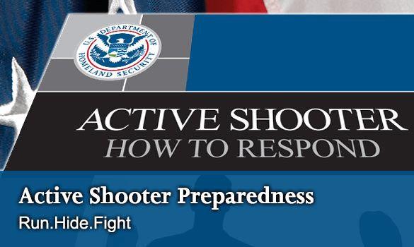 Active Shooter Preparedness   Homeland Security