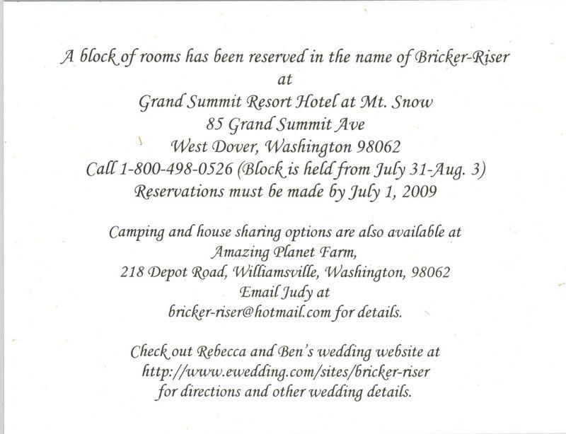 Wedding Invitation Wording :: ECINVITES.COM