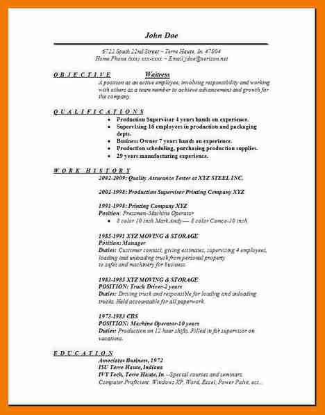 8+ waitress duties on resume | resume holder