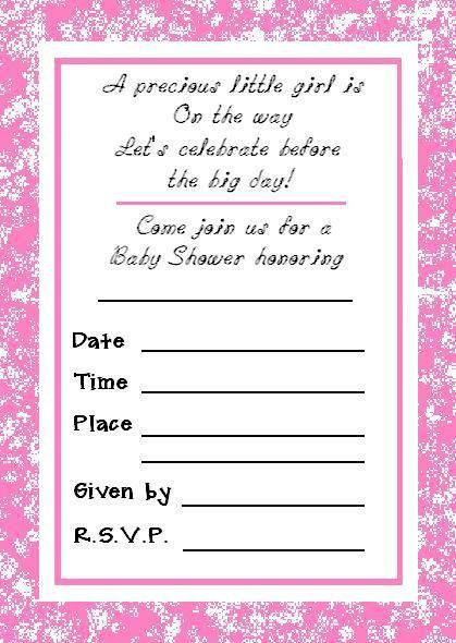 Printed Baby Shower Invitations – gangcraft.net