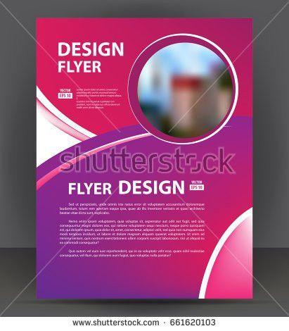 Magazine Flyer Brochure Cover Layout Design Stock Vector 295069196 ...