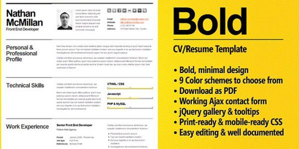 40+ Premium and Free Resume Templates | Web Design Burn