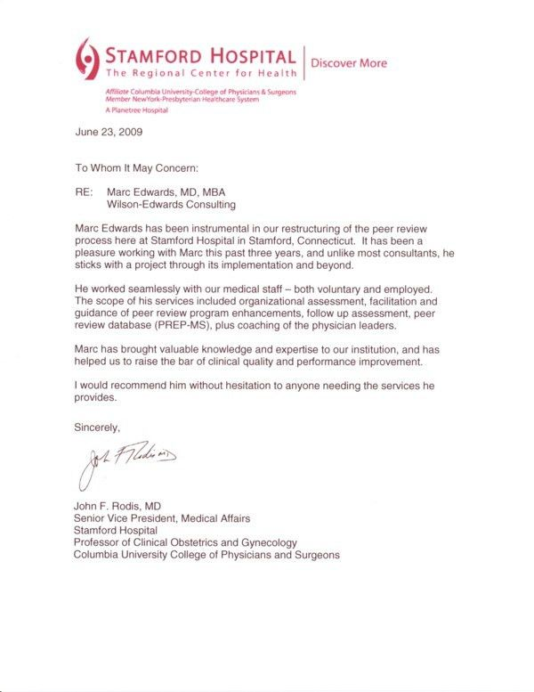 Testimonial Letter - Dr. Rodis