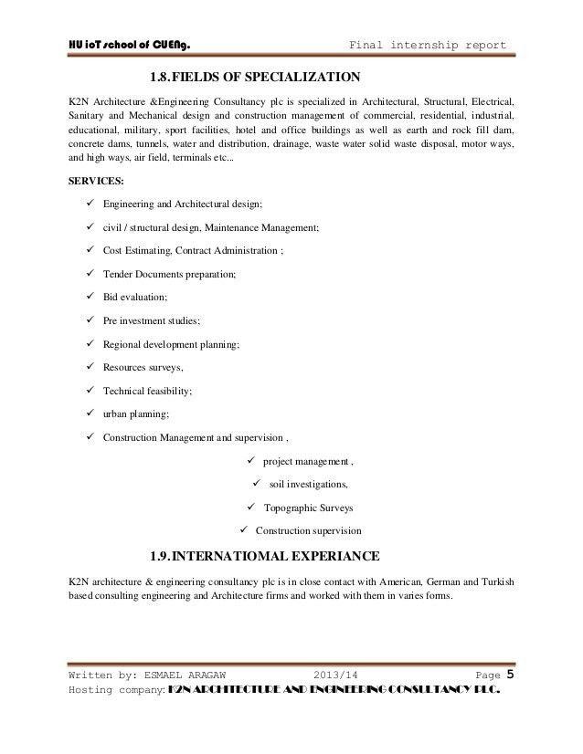 internship report on building construction