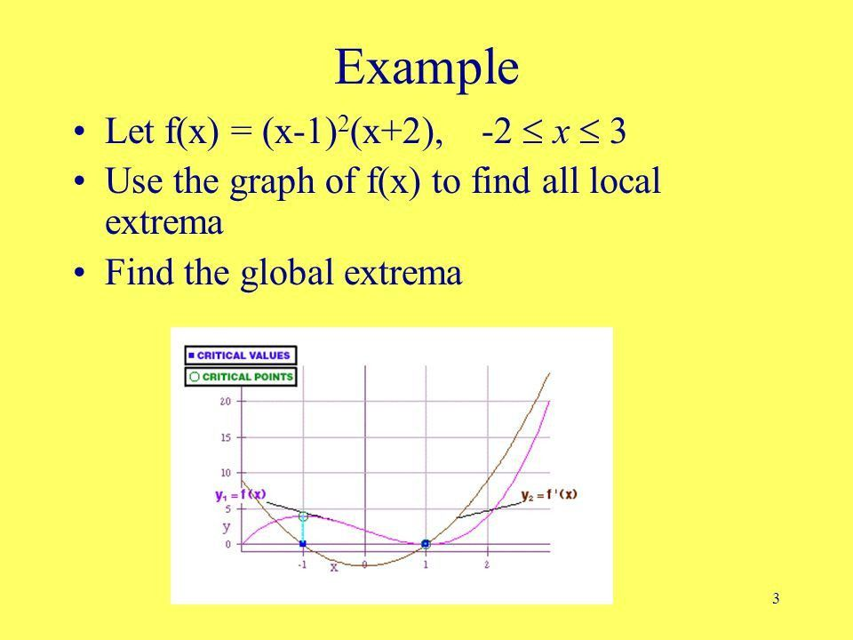 1 Local Extrema & Mean Value Theorem Local Extrema Rolle's theorem ...