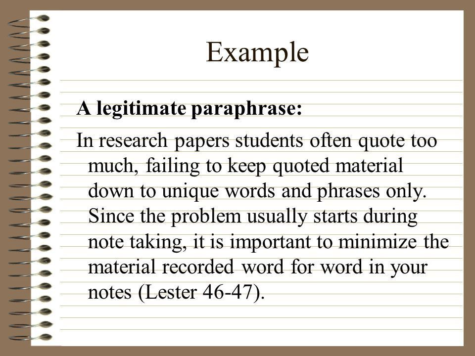 Plagiarism and Paraphrasing - ppt download