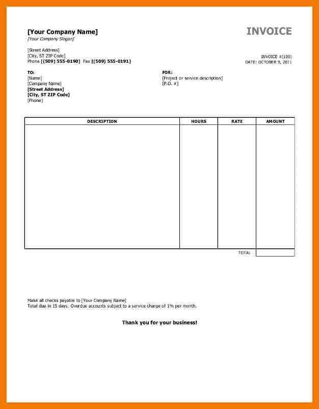 3+ billing format in word free download | mailroom clerk