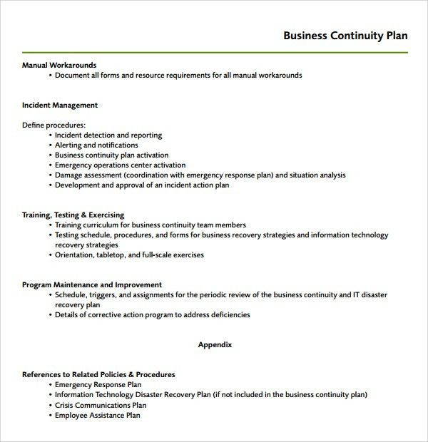 Sample Continuity Plan Template - 7+ Free Documents Download in ...