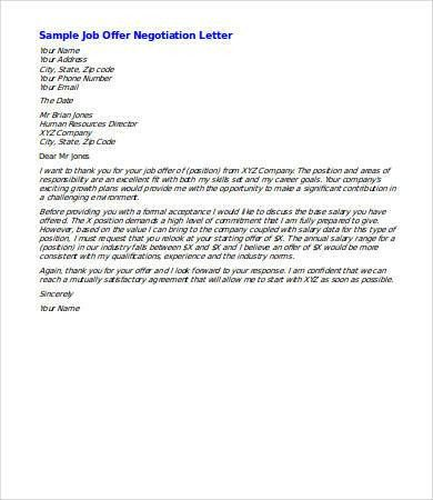 Salary Negotiation Letter - 4 Free Word Documents Download | Free ...