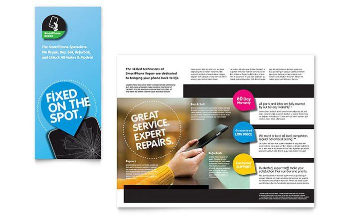 Smartphone Repair Brochure Template - Word & Publisher