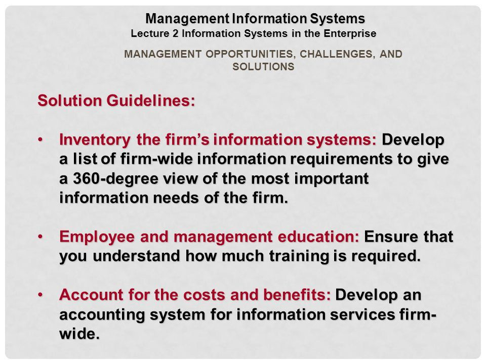 2 Information Systems in the Enterprise - ppt download