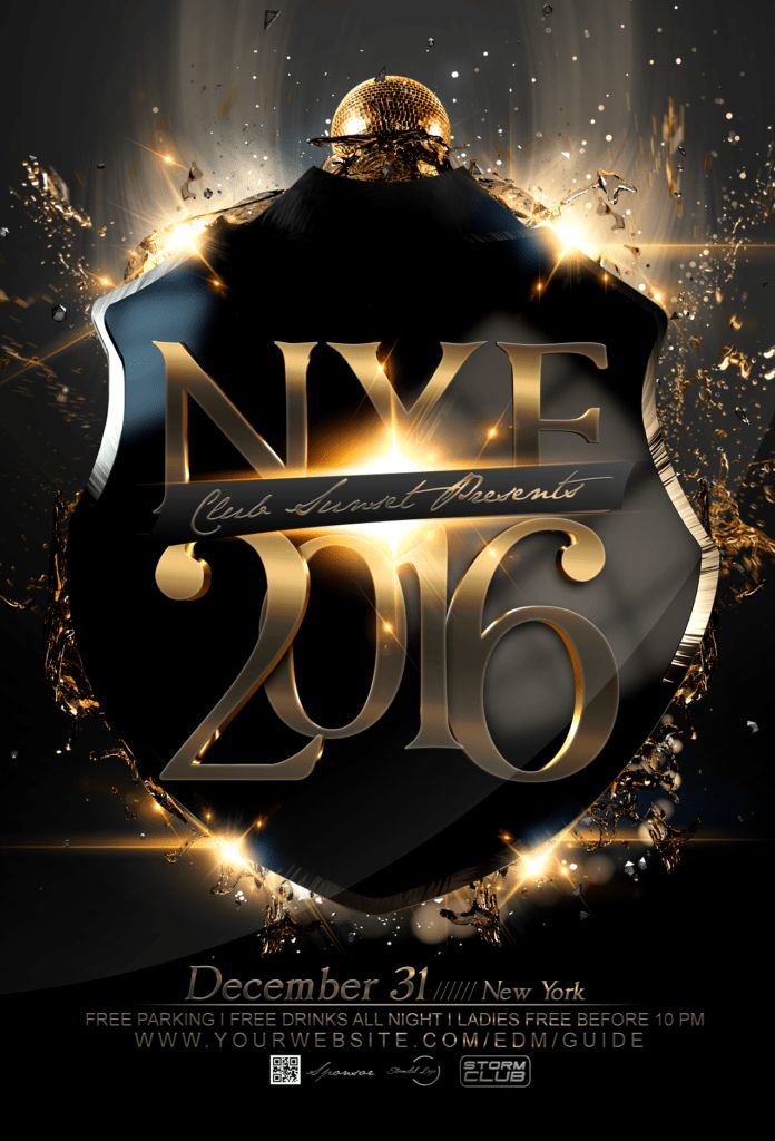 New Year Flyers | OnePartyFlyer.com | New Year Flyer PSD