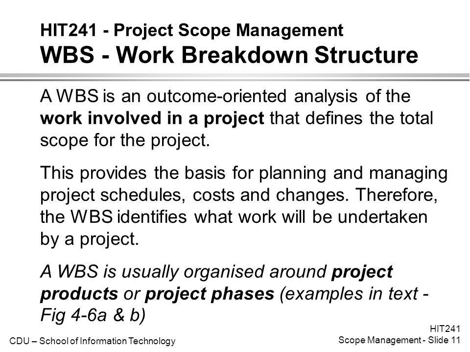 HIT241 - Project Scope Management Introduction - ppt video online ...