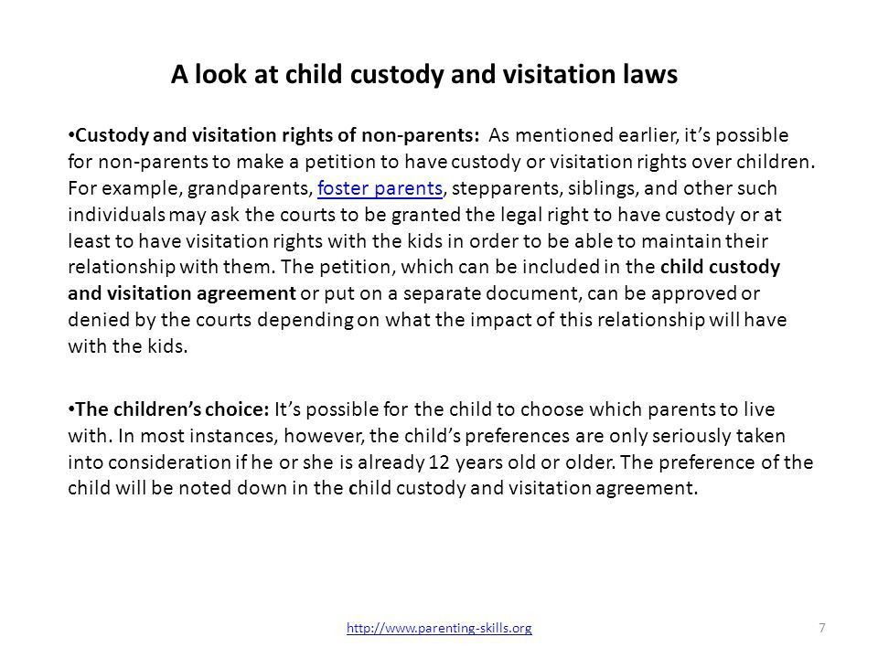 Laws and Policies on Child Custody and Visitation Agreement - ppt ...