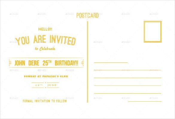 Birthday Postcard Template – 17+ Free PSD, Vector EPS, AI, Format ...