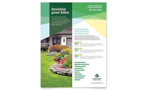 Gardening & Lawn Care | Flyer Templates | Home Maintenance