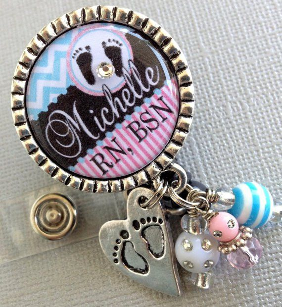 RN BSN Personalized Id badge reel Labor & Delivery nurse NICU ...
