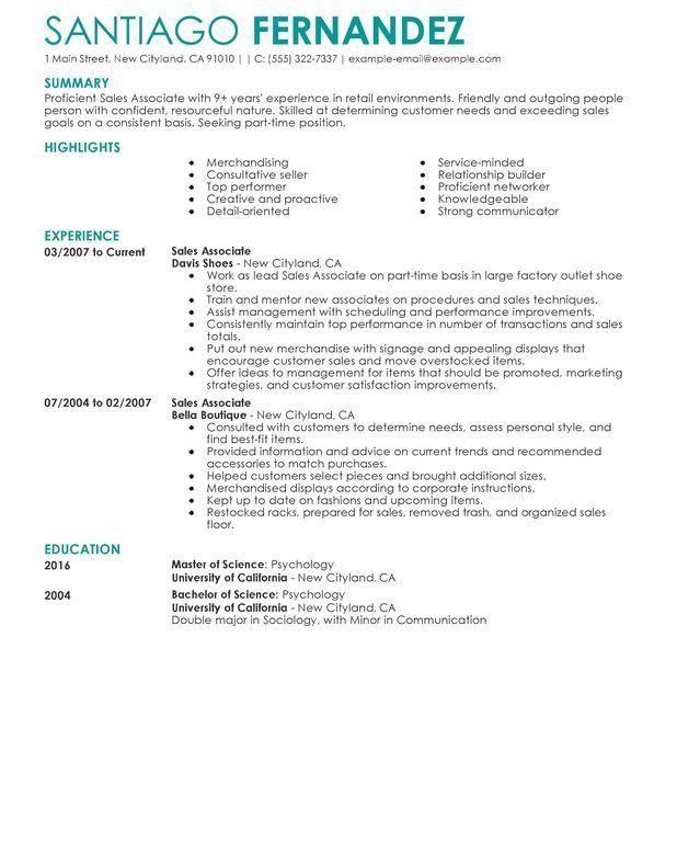Interesting Sample Retail Resume Pretentious - Resume CV Cover Letter