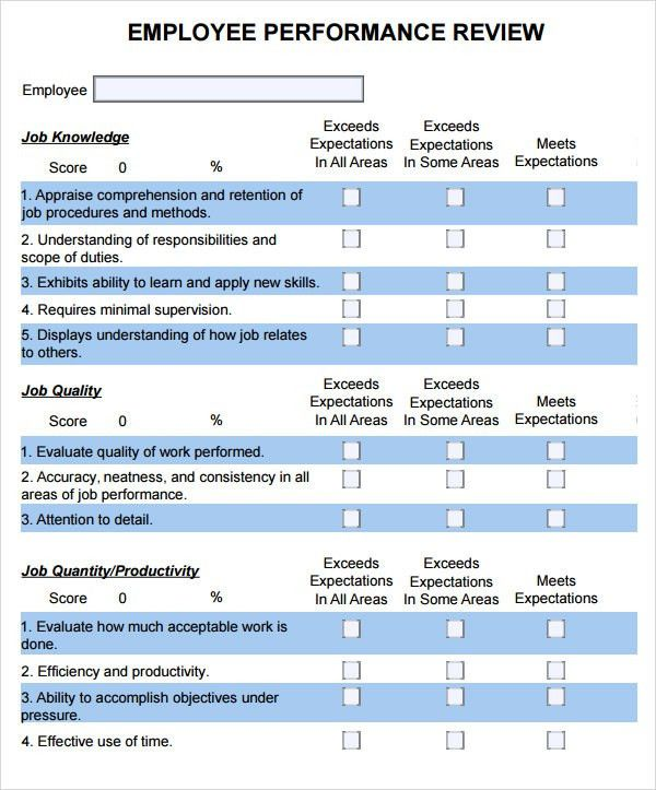 evaluation forms templates excel
