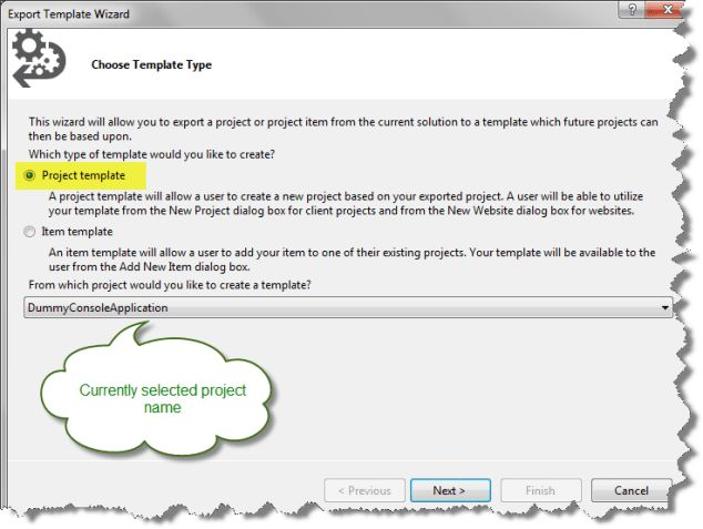 Project Template in Visual Studio 2012 - CodeProject