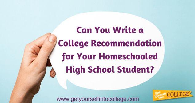 Letters of Recommendation for Homeschool StudentsDr. Jennifer B ...
