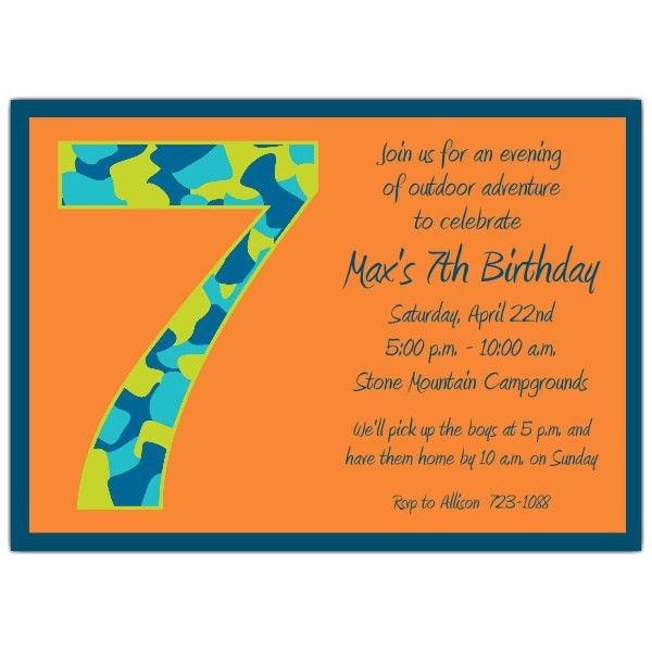 7th Birthday Party Invitation Wording | Invitation Ideas