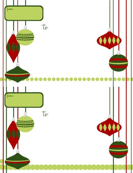 Holiday Labels - Holiday Label Templates Free Printable ...