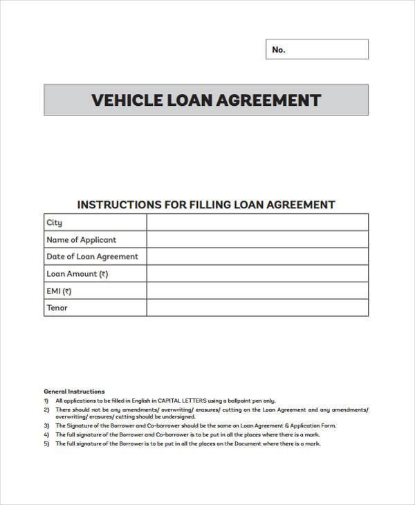 Doc.#12751650: Free Car Loan Agreement Form – corporate loan ...