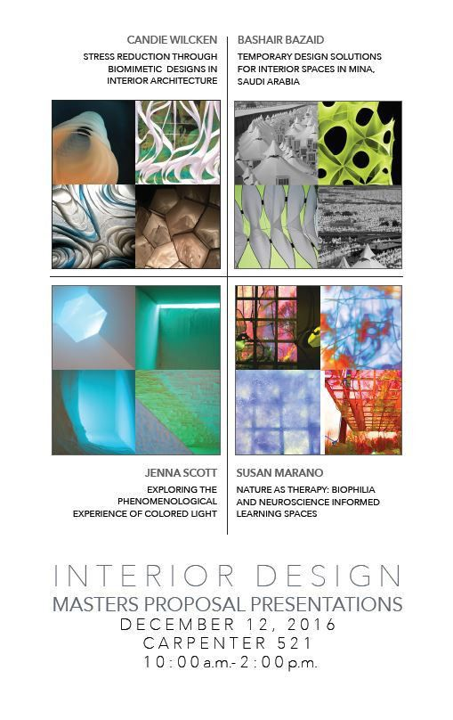 Master of Arts in Interior Design: Proposal Presentations | School ...