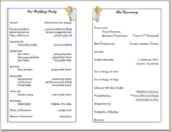11 Free Printable Church Program TemplatesAgenda Template Sample .