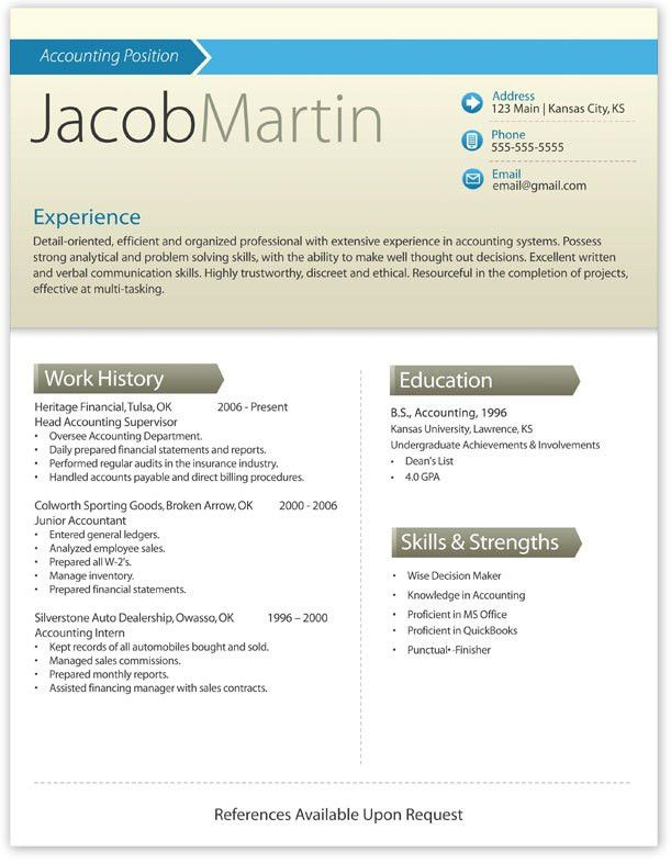 Resume Template Modern. Pretty Initials Design On This ...