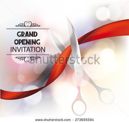 Grand Opening Invitation Card Red Silk Stock Vector 273695594 ...