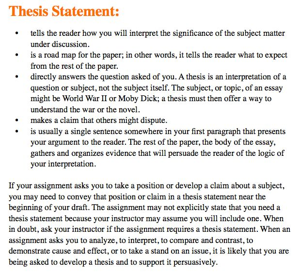 thesis statement example for essays what is a thesis statement in ...