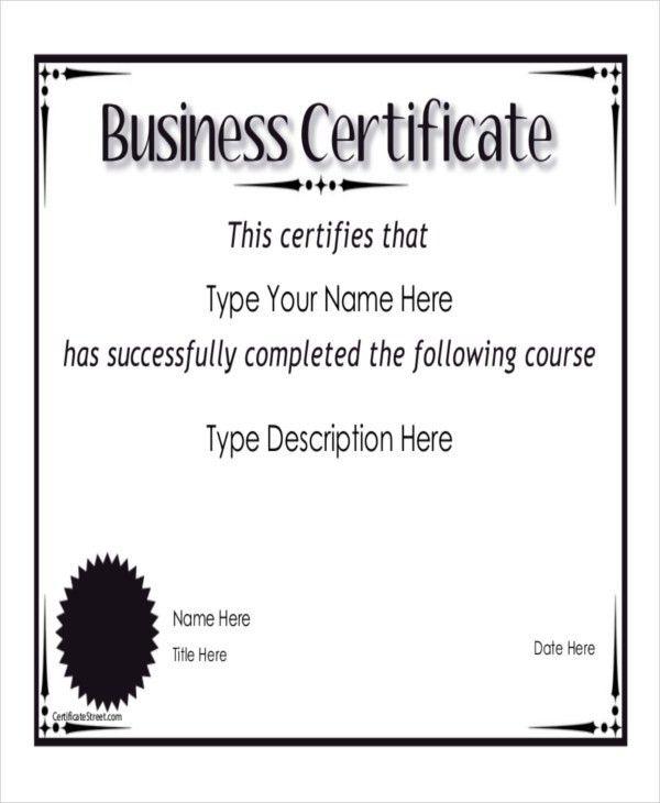 9+ Sample Certificate Templates – Free Sample, Example Format ...