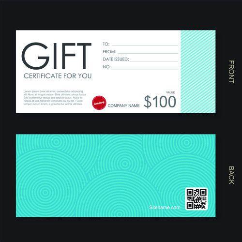 Vector set of gift voucher design elements Free vector in ...
