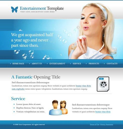 Bubbles CSS Template - 6031 - Beauty & Fashion - Website Templates ...