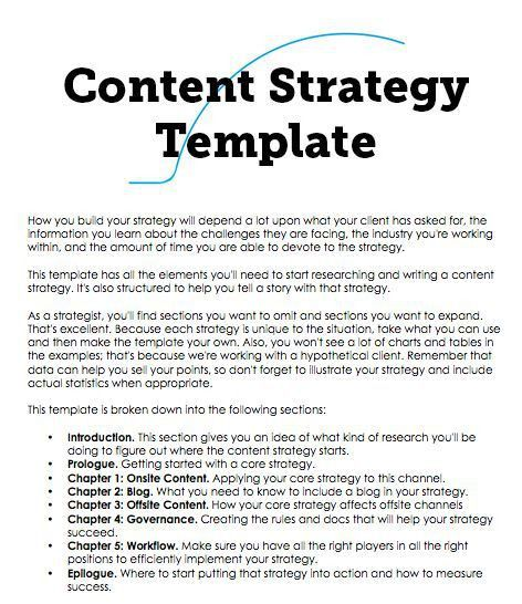 A Content Strategy Template You Can Build On | Frans S Pekasa ...