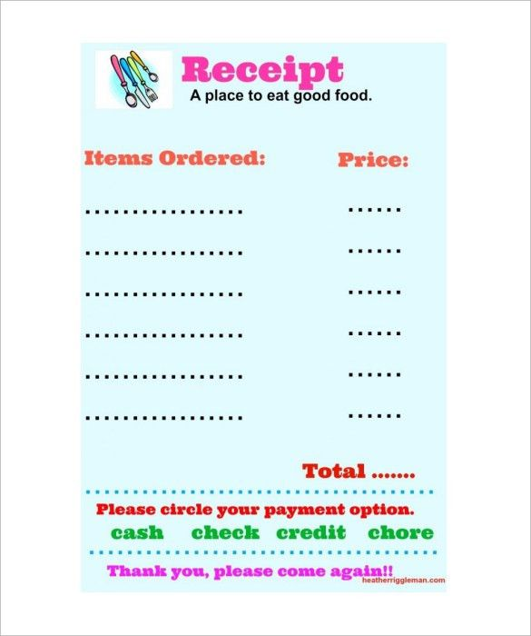 8+ Restaurant Receipt Templates - Free Samples, Examples, Format
