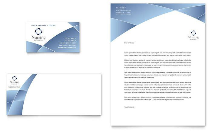 Nursing School Hospital Business Card & Letterhead Template Design