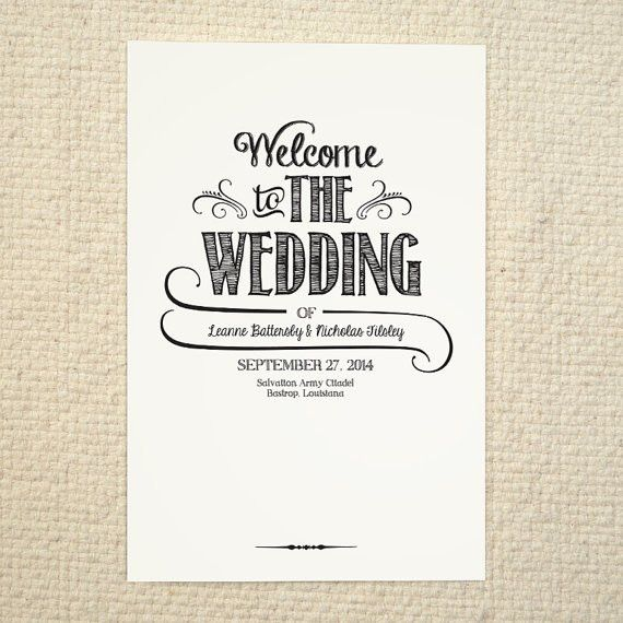 Order Of Service Wedding Templates Free Download