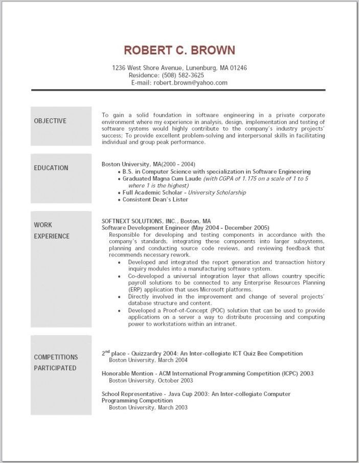 Objective In A Resume Sample | Resume Examples 2017