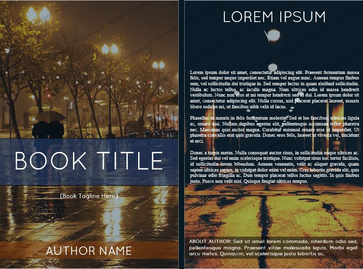Book Cover Template for Microsoft® Word (6 x 9) - Dotxes