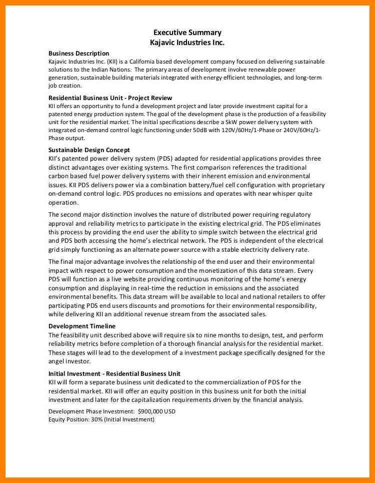10+ executive summary templates | letterhead format