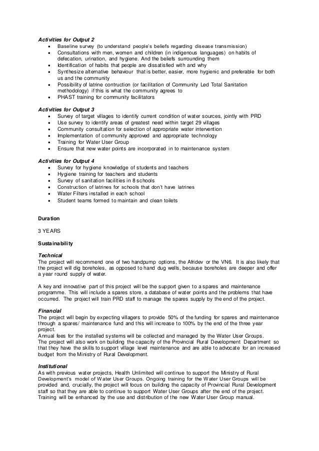 Watsan training sample proposal