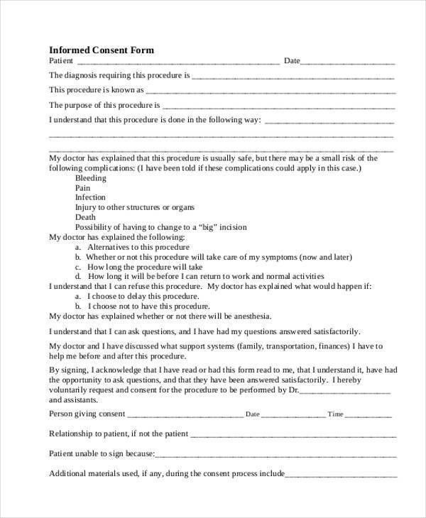 44+ Consent Form Samples- Free Sample, Example Format Download