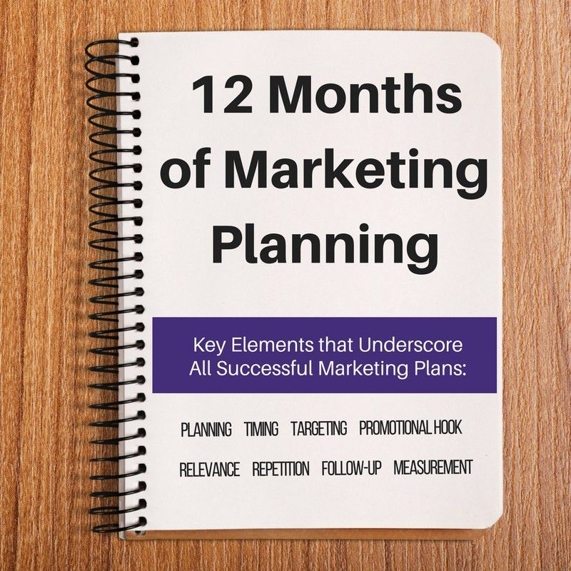 12 Month Marketing Plan Template & Calendar
