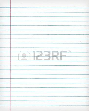 Notebook Lined Paper Background Or Texture Stock Photo, Picture ...