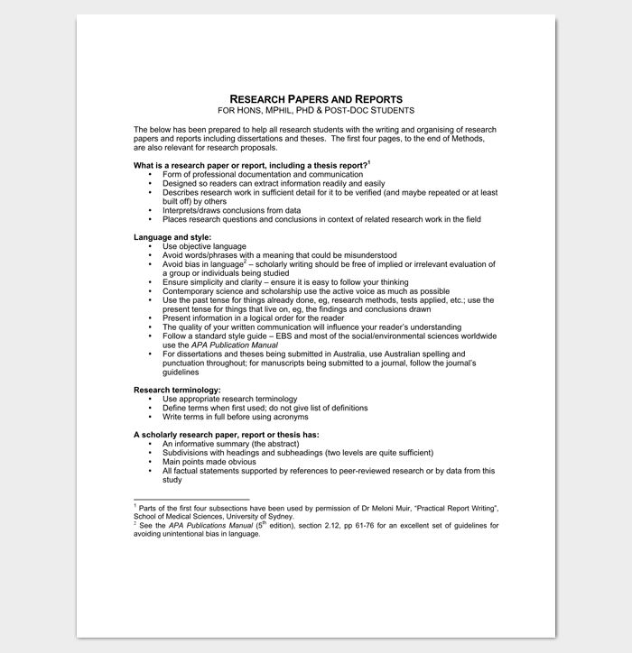 Research Paper Outline Template - 36+ Examples, Formats & Samples